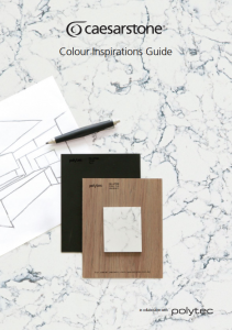 Caesarstone Colour Inspirations Guide